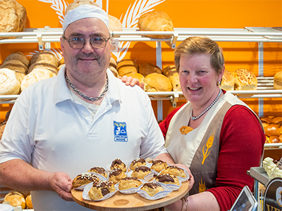 Eclairs bij bakkerij Desmet-Vanmullem
