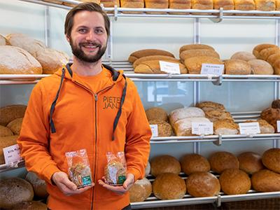 Pieter-Jan met cookies